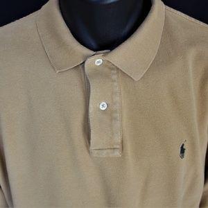 Ralph Lauren Polo Long Sleeve Pique Cotton Polo XL